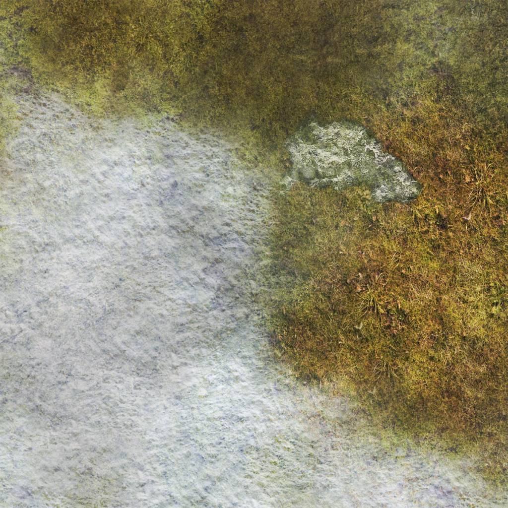 Frontline Gaming FLG Mats: Snow Covered Tundra 1 4x4'