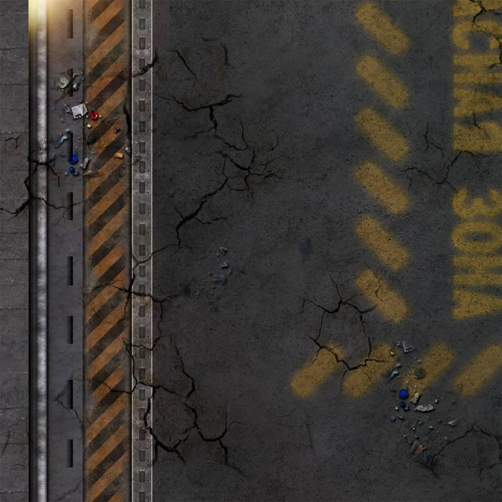 Frontline Gaming FLG Mats: Cyberpunk City 1 4x4'