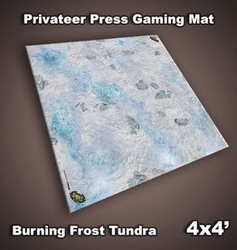Privateer Press Mat: Burning Frost Tundra 4x4'