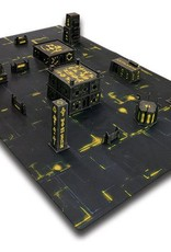 Frontline Gaming ITC Terrain Series: Robot City Complete Set With Mat