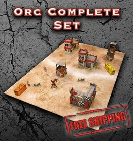 Frontline Gaming ITC Terrain Series: Orc Complete Set With Mat