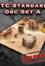 Frontline Gaming ITC Terrain Series: ITC Standard Orc Set A With Mat