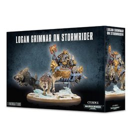 Games Workshop Space Wolves Logan Grimnar on Stormrider