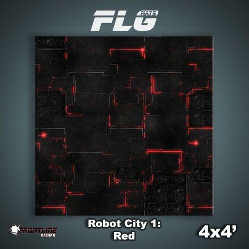 Frontline Gaming FLG Mats: Robot City 1 4x4'
