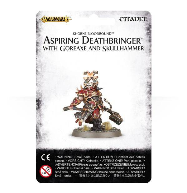 Games Workshop Aspiring Deathbringer with Goreaxe and Skullhammer