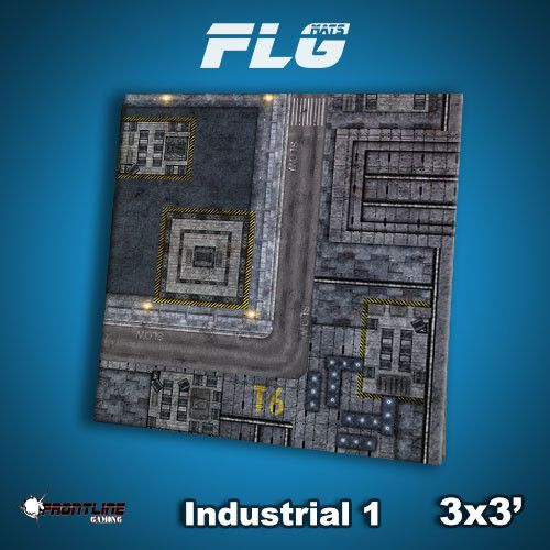 Frontline Gaming FLG Mats: Industrial 1 3x3'