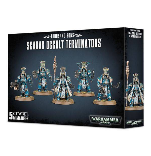 Games Workshop Thousand Sons  Scarab Occult Terminators