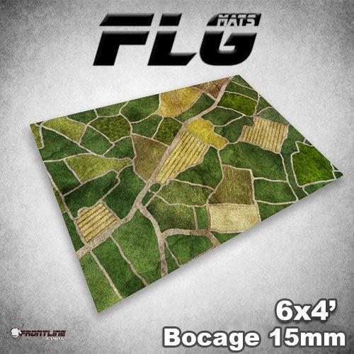 Frontline Gaming FLG Mats: 15mm Bocage 6x4'