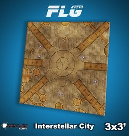 Frontline Gaming FLG Mats: Interstellar City 3x3'