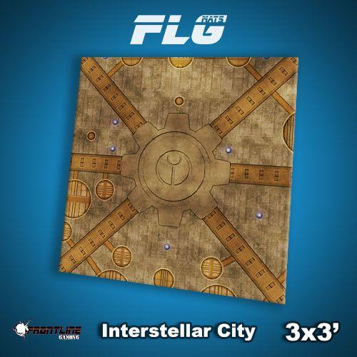 Frontline Gaming FLG Mats: Interstellar City 3x3'
