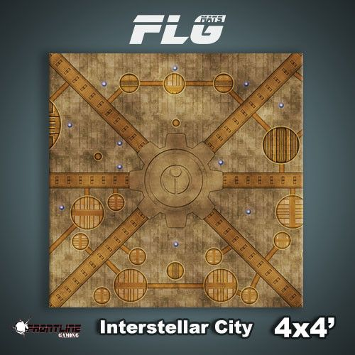 Frontline Gaming FLG Mats: Interstellar City 4x4'