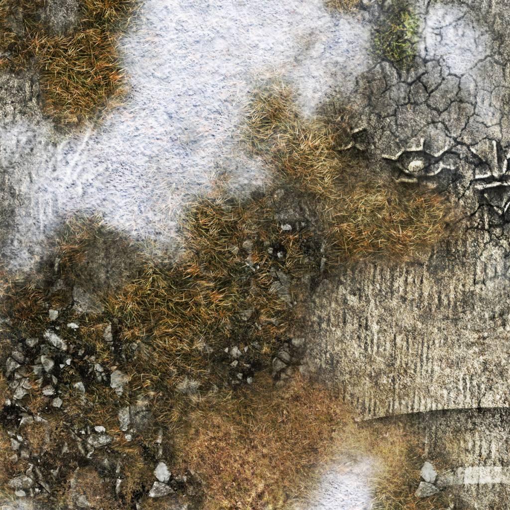 Frontline Gaming FLG Mats: Ancient Alien Ruins Winter 4x4'