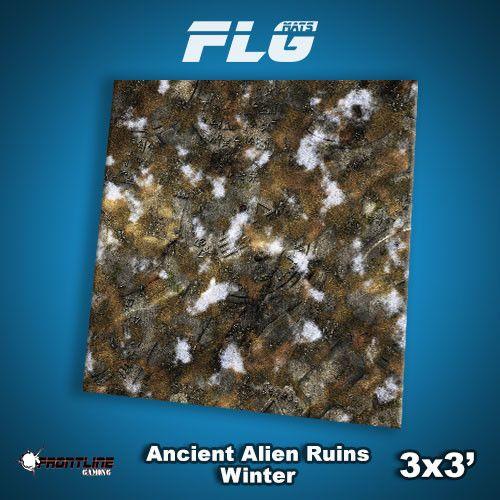 Frontline Gaming FLG Mats: Ancient Alien Ruins Winter 3x3'