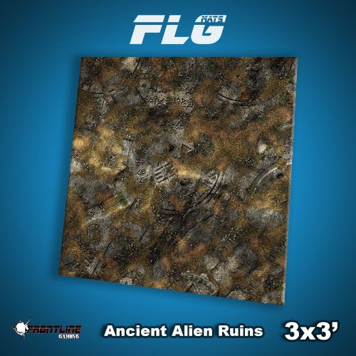 Frontline Gaming FLG Mats: Ancient Alien Ruins 3x3'