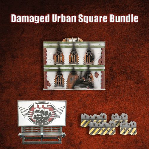 Frontline Gaming ITC Terrain Series: Damaged Urban Square Bundle