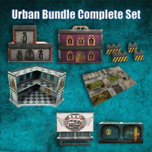 Frontline Gaming ITC Terrain Series: Urban Complete Set With Mat