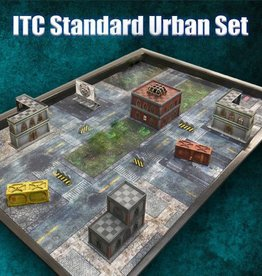 Frontline Gaming ITC Terrain Series: ITC Standard Urban Set With Mat