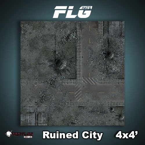 Frontline Gaming FLG Mats: Ruined City 4x4'