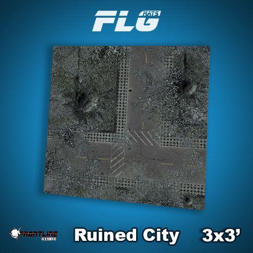 FLG Mats: Ruined City 3x3'