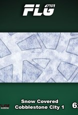 Frontline Gaming FLG Mats: Snow Covered Cobblestone City 1 6x3'