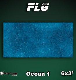Frontline Gaming FLG Mats: Ocean 1 6x3'