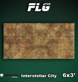 Frontline Gaming FLG Mats: Interstellar City 6x3'