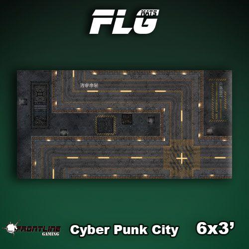Frontline Gaming FLG Mats: Cyberpunk City 1 6x3'