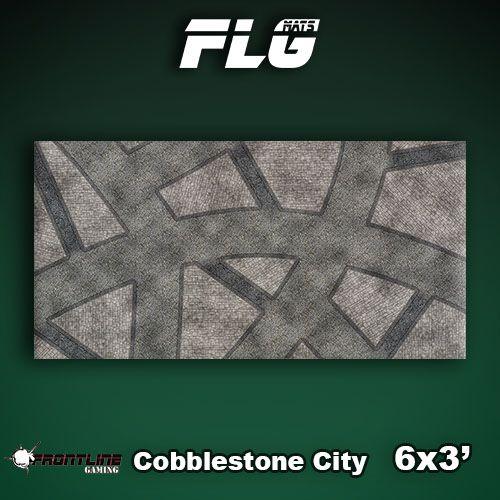 Frontline Gaming FLG Mats: Cobblestone City 1 6x3'