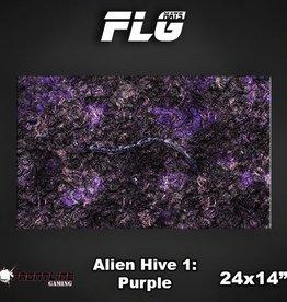 "Frontline Gaming FLG Mats: Alien Hive Purple 24"" x 14"""