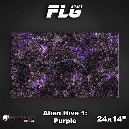 "Frontline Gaming FLG Mats: Alien Hive Purple 24"" x 14"""