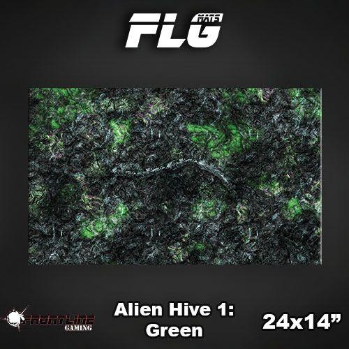 "Frontline Gaming FLG Mats: Alien Hive Green 24"" x 14"""