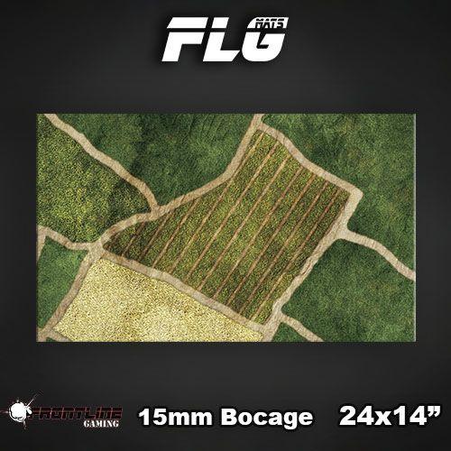 """Frontline Gaming FLG Mats: Bocage 15mm 24"""" x 14"""""""