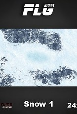 "Frontline Gaming FLG Mats: Snow 24"" x 14"""