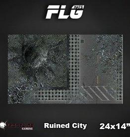 "Frontline Gaming FLG Mats: Ruined City 24"" x 14"""
