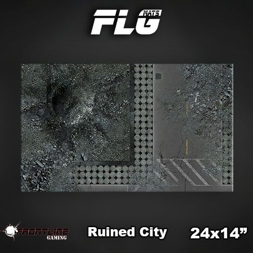 "Frontline Gaming FLG Mats: Ruined City 24"" x 14"""
