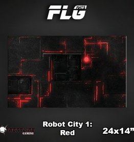 "Frontline Gaming FLG Mats: Robot City Red 24"" x 14"""