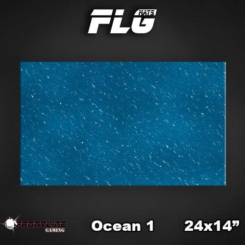 "Frontline Gaming FLG Mats: Ocean 24"" x 14"""