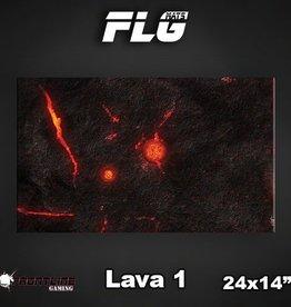 "Frontline Gaming FLG Mats: Lava 24"" x 14"""