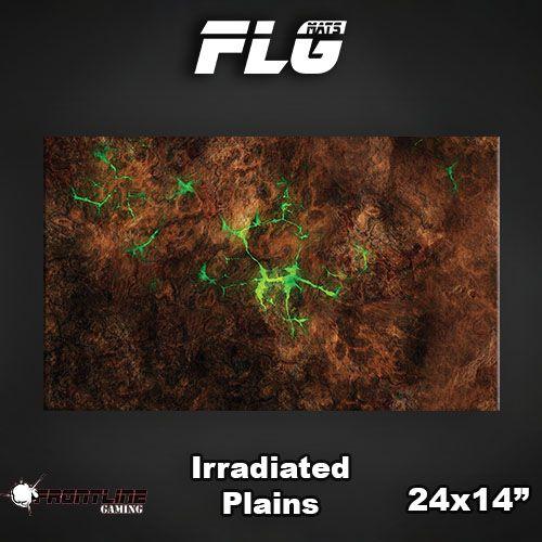 "Frontline Gaming FLG Mats: Irradiated Plains 24"" x 14"""