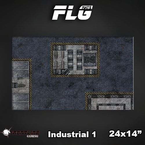 "Frontline Gaming FLG Mats: Industrial 24"" x 14"""