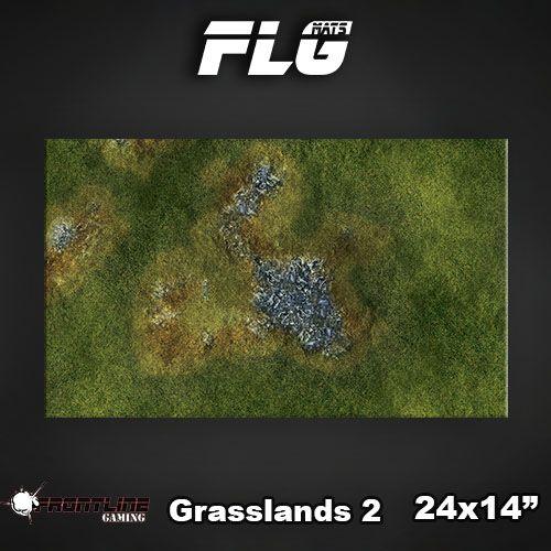 """Frontline Gaming FLG Mats: Grasslands 2 24"""" x 14"""""""