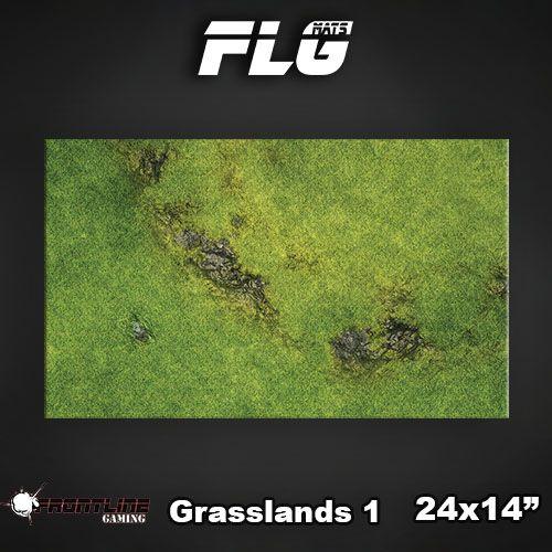 """Frontline Gaming FLG Mats: Grasslands 24"""" x 14"""""""