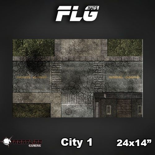 "Frontline Gaming FLG Mats: City 24"" x 14"""