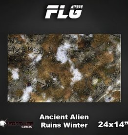 "Frontline Gaming FLG Mats: Ancient Alien Ruins Winter 24"" x 14"""