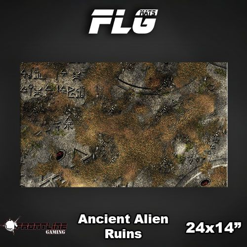 "Frontline Gaming FLG Mats: Ancient Alien Ruins 24"" x 14"""