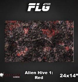 "Frontline Gaming FLG Mats: Alien Hive Red 24"" x 14"""