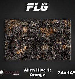 "Frontline Gaming FLG Mats: Alien Hive Orange 24"" x 14"""