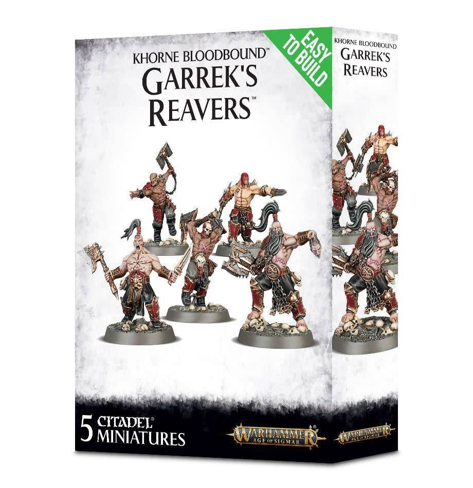 Games Workshop Easy To Build: Khorne Bloodbound Garrek's Reavers