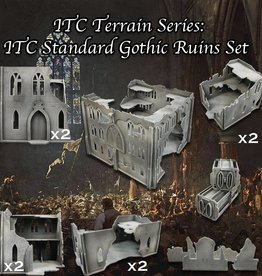 Frontline Gaming ITC Terrain Series: ITC Standard Gothic Ruins Set