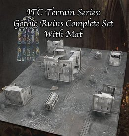 Frontline Gaming ITC Terrain Series: Gothic Ruins Complete Set With Mat
